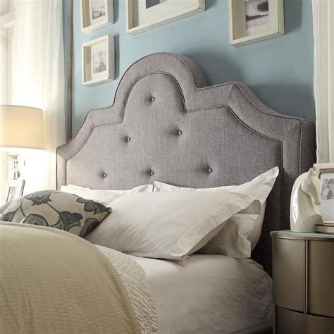 Upholstered King Size Beds by Inspire Q Tufted High Arching Linen Upholstered