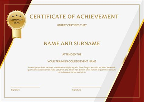 templates for english certificates red border english certificate certificate template