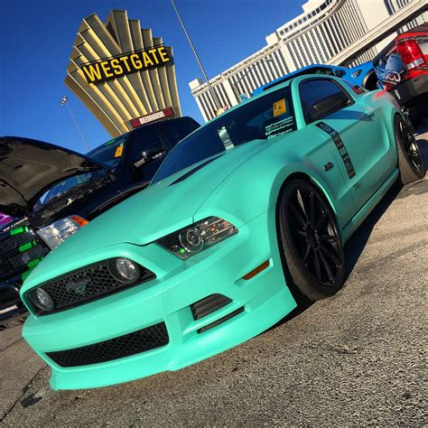 tiffany blue mustang defrost101 s satin tiffany blue mustang wrapfolio