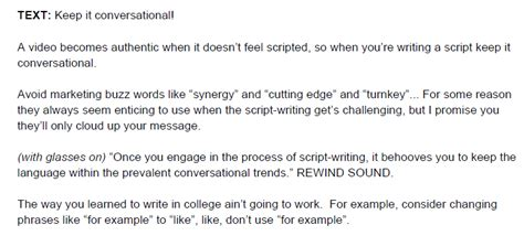 write  video script template video