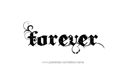 forever love tattoo designs top the word forever images for tattoos