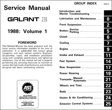 car repair manuals download 1988 mitsubishi galant electronic valve timing 1998 mitsubishi galant repair shop manual 2 volume set original