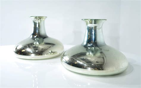 set of large mercury glass mexican vases for sale at 1stdibs