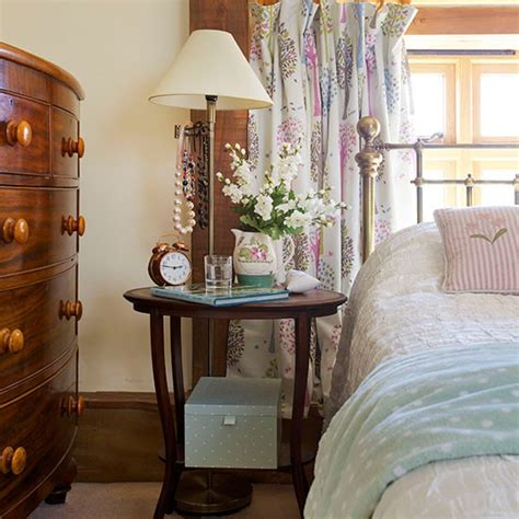 vintage small bedroom country bedroom with dark furniture decorating
