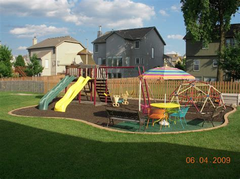Playground Backyard by Brillian Design Landscaping Ideas Backyard Troline