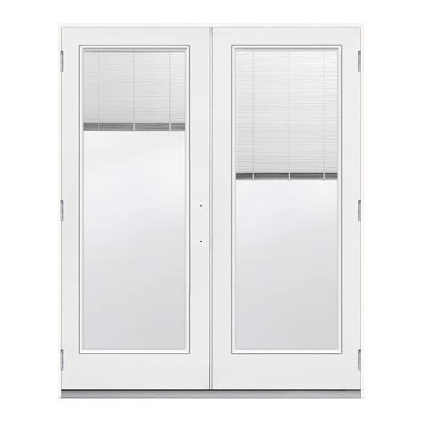 Jeld Wen 72 In X 80 In Steel White Prehung Right Hand Outswing Patio Doors
