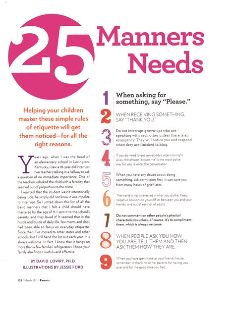Essay On Social Etiquettes by 25 Manners Every Kid Needs By Age 9 Angmohdan