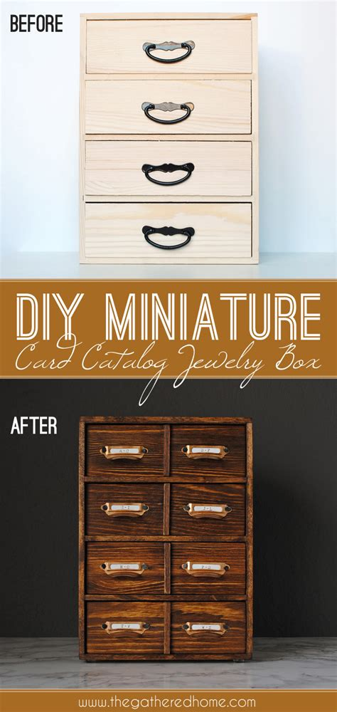 how to make a card catalog diy card catalog jewelry box the gathered home