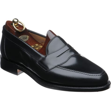 loake loafer loake shoes loake shoemaker eton loafer in black