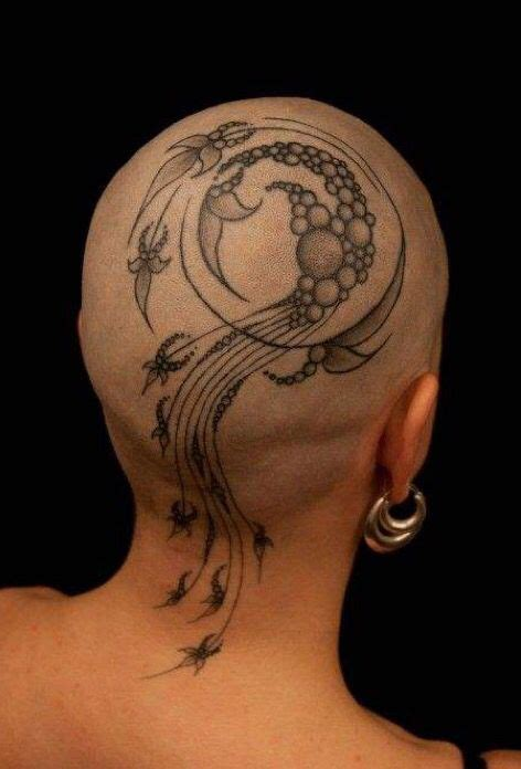 diamond tattoo on head 19 best scalp tattoo images on pinterest scalp tattoo