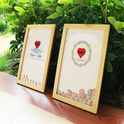 Wedding Guestbook 6 personalised wedding guest book alternative wood