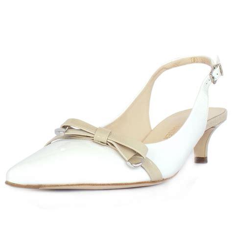 white cath flat sling back sandals kaiser s dressy kitten heel shoes