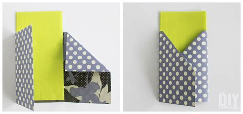 How To Make An Envelope With 12x12 Paper - crafting with paper diy utensil holders