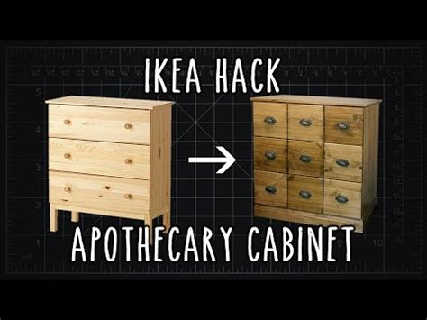 Ikea Cabinet Ikea Hack Quot Tarva Quot Apothecary Cabinet Diy Youtube