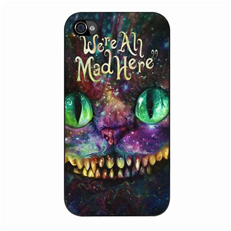 Iphone Iphone 5 5s The Chesire Keep Smile we are all mad here in we re all mad here