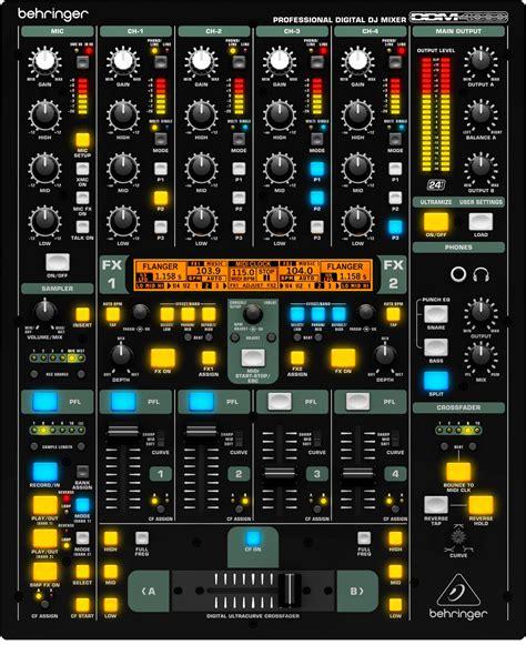 Mixer Dj Behringer behringer digital pro ddm4000 5 channel dj mixer pssl