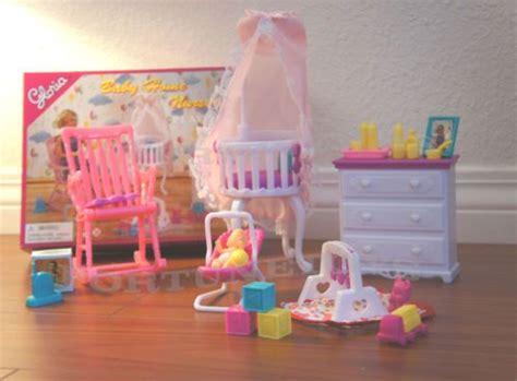 dolls house nursery gloria doll house furniture baby home nursery w canopy
