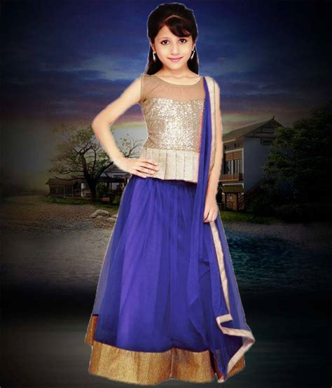 top 12 more carefree and classic look wear natural afro buy navy blue plain net kids lehenga choli online