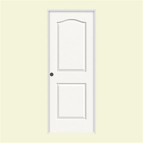 26 Prehung Interior Door Jeld Wen 30 In X 80 In Molded Smooth 2 Panel Eyebrow Brilliant White Solid Composite