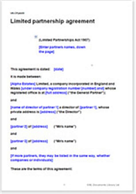 partnership agreement template nz limited partnership agreement template