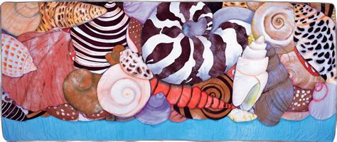 Velda Newman Quilts by The Of The Quilt Sea Shells Nearly 12 Fooot Wide Quilt By Velda Newman