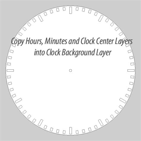stron biz hour and minute hand template