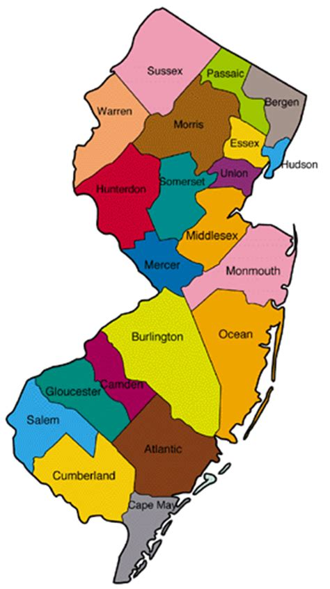 nj counties map new jersey count 2015 advocates for children of new jersey