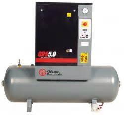 chicago pneumatic qrs15hp rotary air compressor 120 gal 15 hp