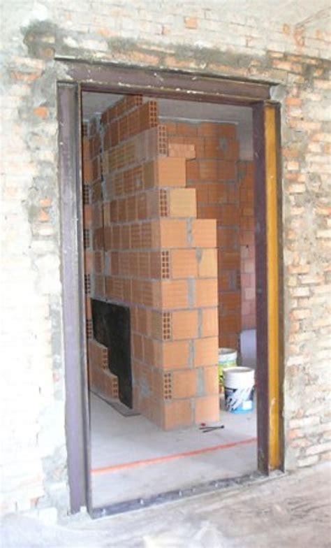 apertura porta su muro portante foto cerchiatura metallica per l apertura di una porta in