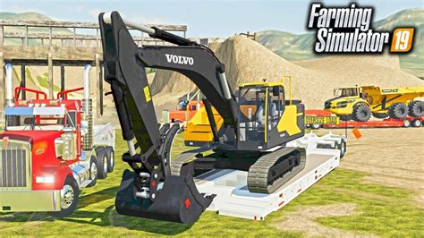 fs mining digging operation heavy hauling volvo excavator rock truck  plant youtube