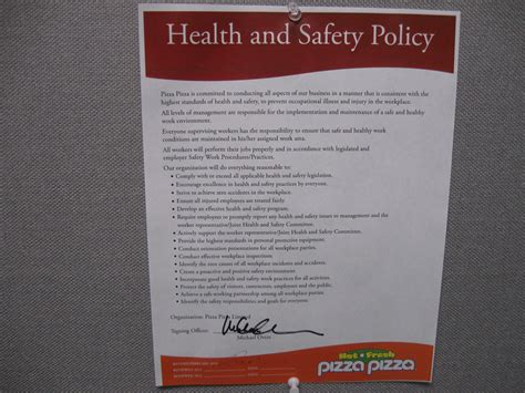 work health and safety policy templates pizza pizza library