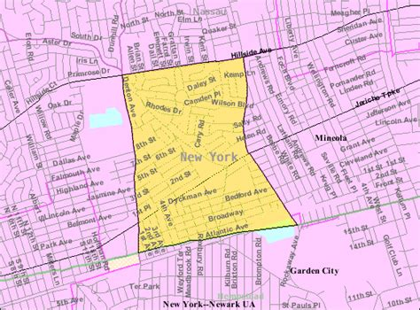 Garden City Ny Directions Census Designated Places In Nassau County New York