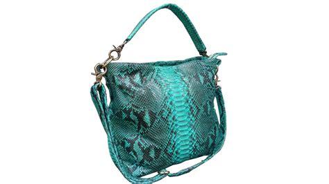 Slingbag Anyam Kulit tas kulit aslitas kulit ular python warna hijau tas