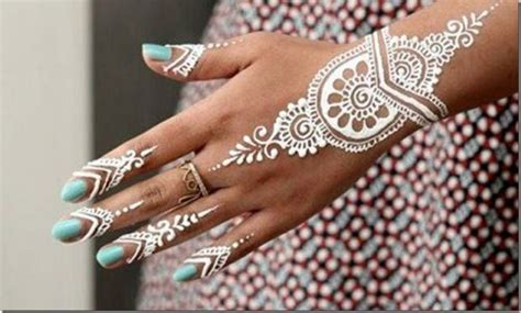 what is a henna tattoo made of 2018 beautiful white henna mehndi designs pictures
