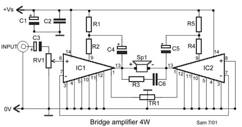 An17823a Btl 4w Mono Power Lifier how to build collection of bridged power lifiers circuit diagram