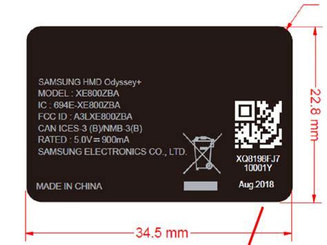 Samsung Odyssey Plus New Samsung Odyssey Vr Headset Revealed In Fcc Documents