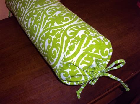 long bed pillow long bed pillow neck roll pillow lime green and white