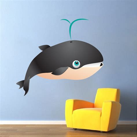 Wall Mural Decals For Kids kids whale mural decal nursery wall decal murals