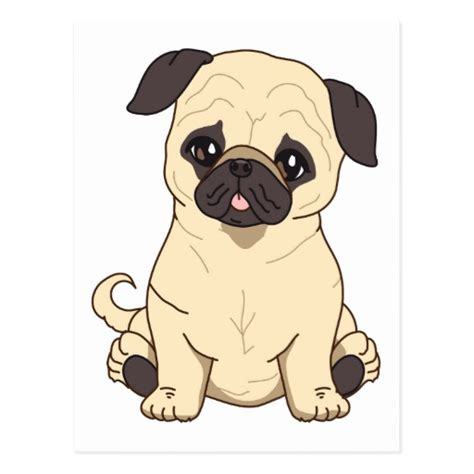 pug outline drawing pug line drawing breeds picture