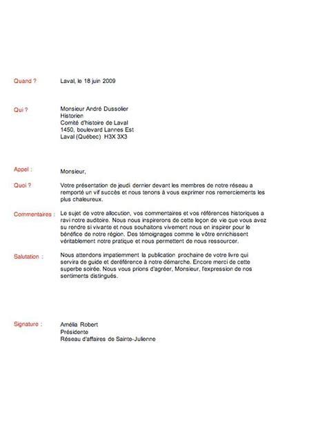 Exemple Lettre De Remerciement A Un Client modele lettre de remerciement document