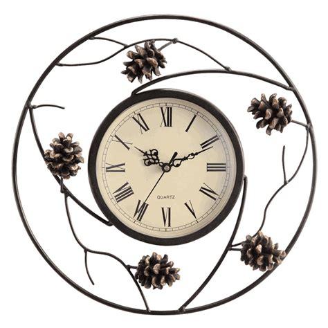 art wall clock metal art wall clock iyodd com with metal pinecone wall clock