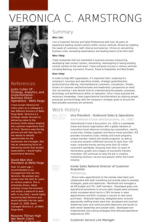 vice president cv exle visualcv resume sles database