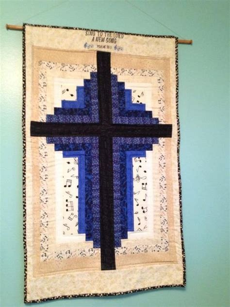 Cross Quilt Patterns by Log Cabin Cross Wallhanging Pdf Pattern Via Craftsy