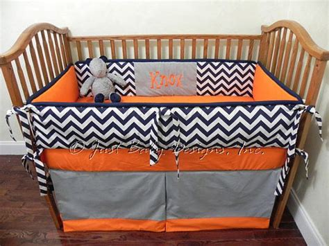 navy and orange bedding custom baby bedding set knox boy crib bedding navy