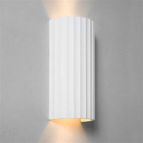 paintable ceramic plaster wall washer wall light with