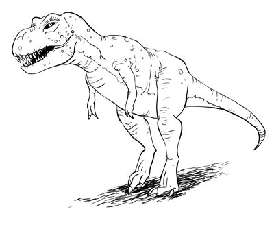 Drawing T Rex Dinosaur by How To Draw A T Rex Dinosaur Sketchbook Challenge 25