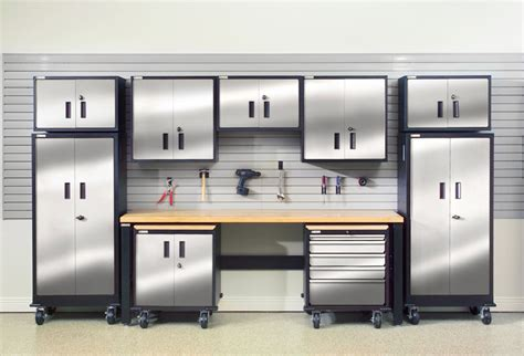 stainless steel garage storage cabinets your garage garage storage and cabinets