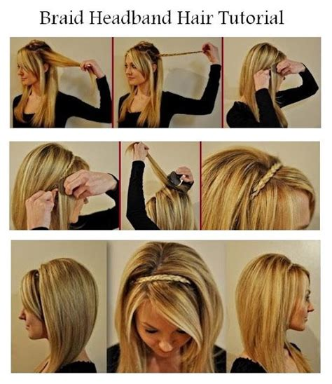 how to do a headband braid step by step braid headband hairstyles step by step pinterest
