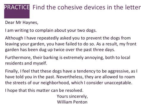 Complaint Letter Unleashed Dogs Letter Of Complaint