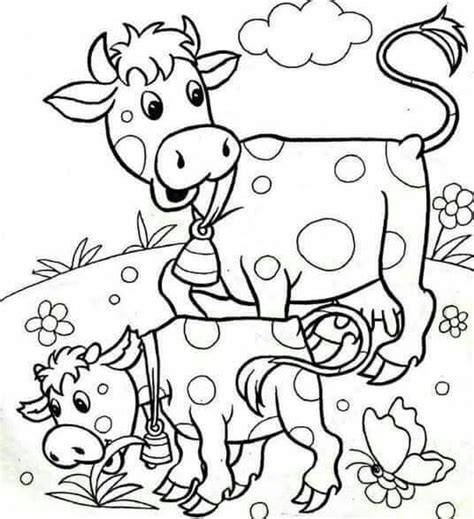 coloring pages of animals with their babies cow coloring pages 171 funnycrafts